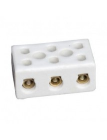 porcelain terminal block 3-pole 2,5mm² hole distance 14mm max. 24A max 250V L 35mm W 18mm
