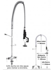 Countertop faucet shower 2 way waters Eco