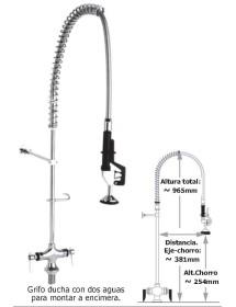 Grifo ducha encimera 2 aguas Eco