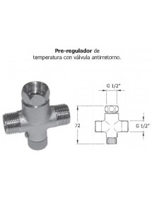 Temperature pre-regulator with check valve