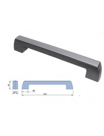 Handle in black ABS with silver anodized aluminum trim or ABS. Weight: 100g