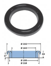 Ring clearing Ø232mm High Density Rubber Food