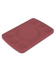 Tabla 6 salsas polietileno rectangular 30x20 cm