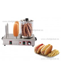 Hot dog machine with 4 bars for bread