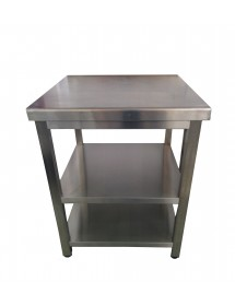 Mesa central de acero inoxidable 700x600 mm