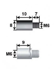 10 mm extension Shaft 8 L10 For M6