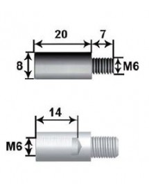 15 mm extension Shaft 8 L15 For M6