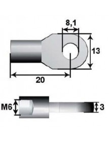 Anclaje Ojo Metal Ø8mm L20 M6