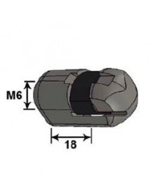 Plastic ball joint head 10 L18G M6