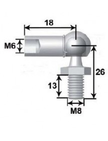 Metal ball joint M6 L18. Ball spike M8 L13