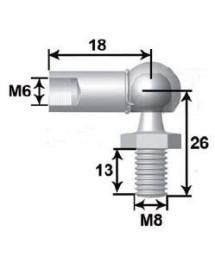 Rotula Metal M6 L18 Espiga Bola M8 L13