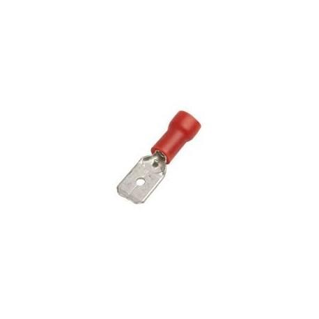 male faston size 6.3x0.8mm 0.5-1.5mm² Qty 100 pcs insulation PVC Cu gal Sn red t.max. 75°C
