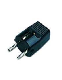 Schuko plug T / T 10 / 16A Black