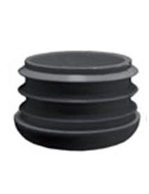 Conteras fijas 30mm plástico negro para tubo redondo