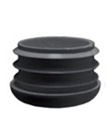 Fixed cover 30mm, black plastic round tube