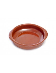Cazuela de cerámica redonda con asas