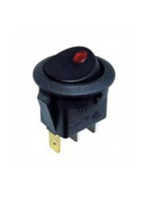 Rocker switch mounting ø 20mm orange 1NO 250V 6A illuminated 0 connection male faston 4.8mm XCK-015-2