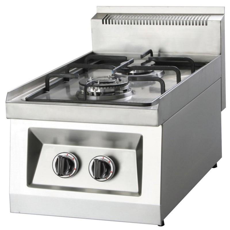 Cuisinière à gaz 2 feux OZTI - Chef Global - Machines et matériel ...