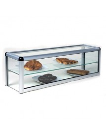 Neutral flat glass display case 2 level