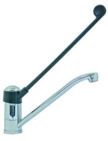 """single lever monobloc tap long lever connection 1/2"""" spout length 230mm"""
