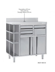 Mueble Cafetero Inoxidable MCAF 1000 CD