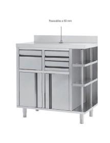 Mueble Cafetero Inoxidable MCAF 1000 CI
