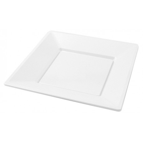 White square plate (25 pcs)