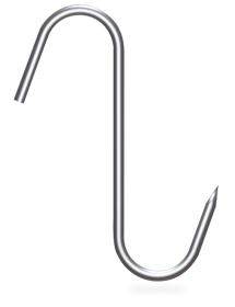 Gancho varilla en forma de S (pack 10 unidades)