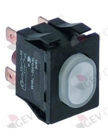 interruptor pulsante medida de montaje 30x22mm blanco 2NO 250V 16A iluminado Sammic 2319215 346041