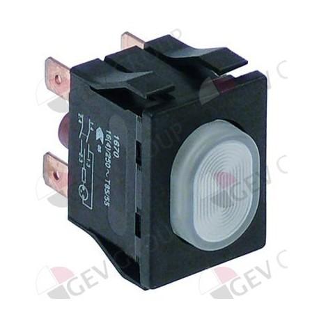 push switch mounting measurements 30x22mm white 2NO 250V 16A illuminated Sammic 2319215 346041
