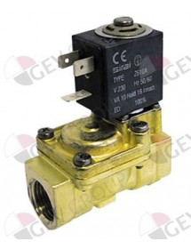 "solenoid valve brass 2-ways 230 VAC connection 3/4"" L 79mm DN 18mm 120123 Comenda"