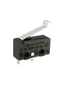 Microswitch with rod, KW4A 125-250V 5A 20mm