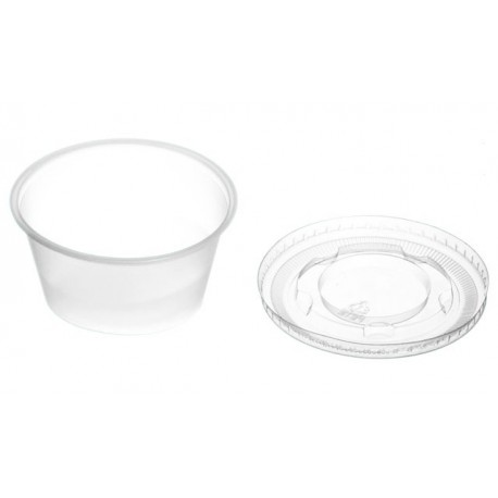 Transparent terrine for sauces + Lid 30 ml PET (pack of 50 units)