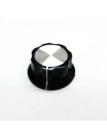 Mando Plástico Eje ø 6mm Diámetro 45mm Salamandra ES-538 ES-450 ES-600 sujeción dos tornillos al eje