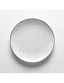 Plato llano de 26 cm DOTS Blanco (Pack 6 uds)
