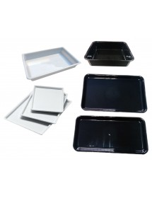 Trays deep black methacrylate