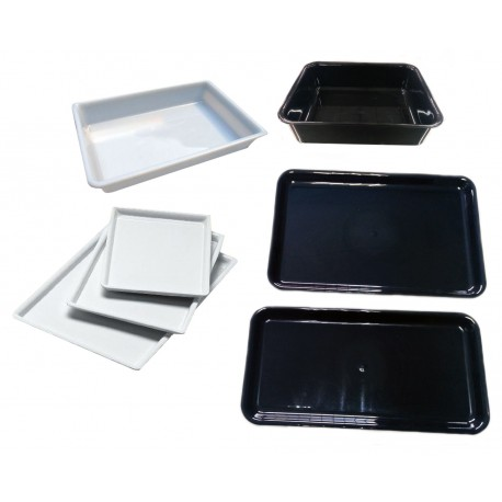 Trays deep black methacrylate