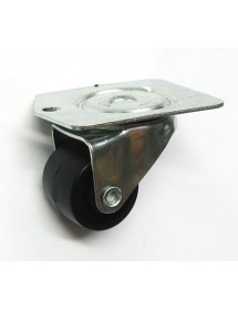 Metal caster, 50mm ø 104x82mm H45mm 1x subject plate with anchor