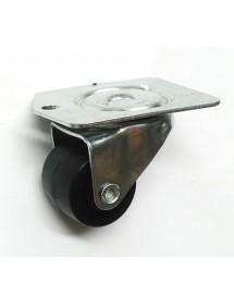 Rueda pivotante fibra ø 50mm H63mm sujeción placa 104x82mm 1x con anclaje