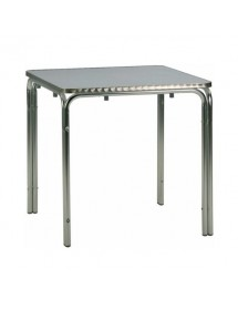 Double aluminum tube table 80x80