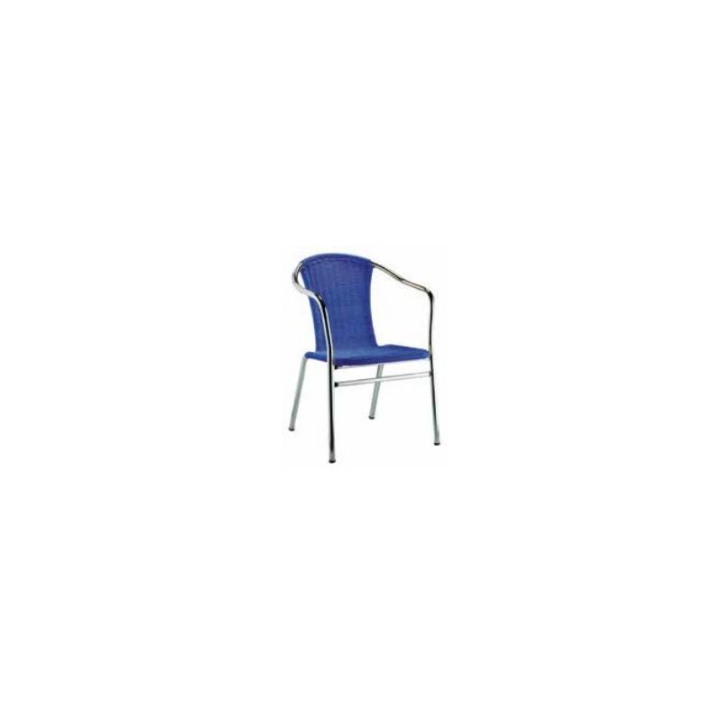 Silla terraza de aluminio y asiento en polipropileno for Sillas para terraza bar