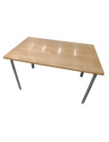 Mesa aluminio y tablero DM (MDF) 120x75 cm