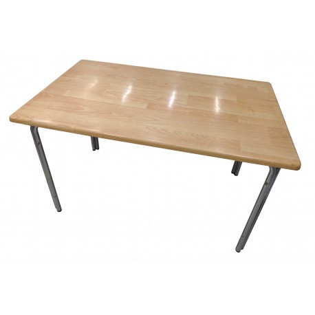 Aluminum pedestal table MDF 76x122x70cm