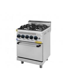 Cocina con Horno a Gas Turhan 4 quemadores Serie 630