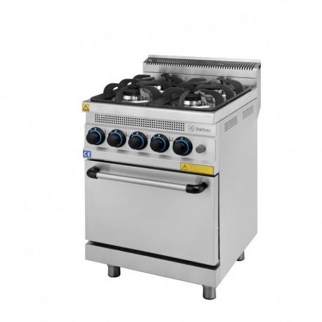 Cocina con horno a gas turhan 4 quemadores serie 630 chef global maquinaria equipamiento de - Cocina horno gas ...