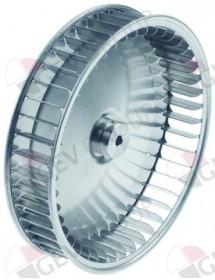 Fan wheel D1 ø 197mm H1 43mm blades 45 D2 ø 8mm D3 ø 8x6.8mm H2 14mm H3 1,5mm Eutron Piron