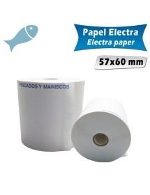 Rollos de papel electra 57x60 mm PESCADOS Y MARISCOS (Pack de 10 unidades)
