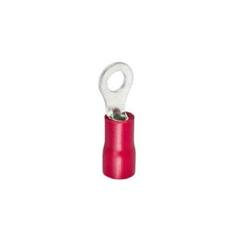 ring terminal size M5 ø5.3mm 0.5-1.5mm² Qty 100 pcs insulation PVC Cu gal Sn red