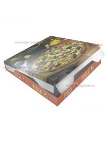Caja Pizza 40x40x4 cm (Pack 50 uds)