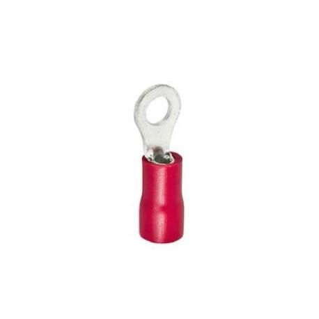 ring terminal size M5 ø5.3mm 0.5-1.5mm² Qty 100 pcs insulation PVC Cu gal Sn red